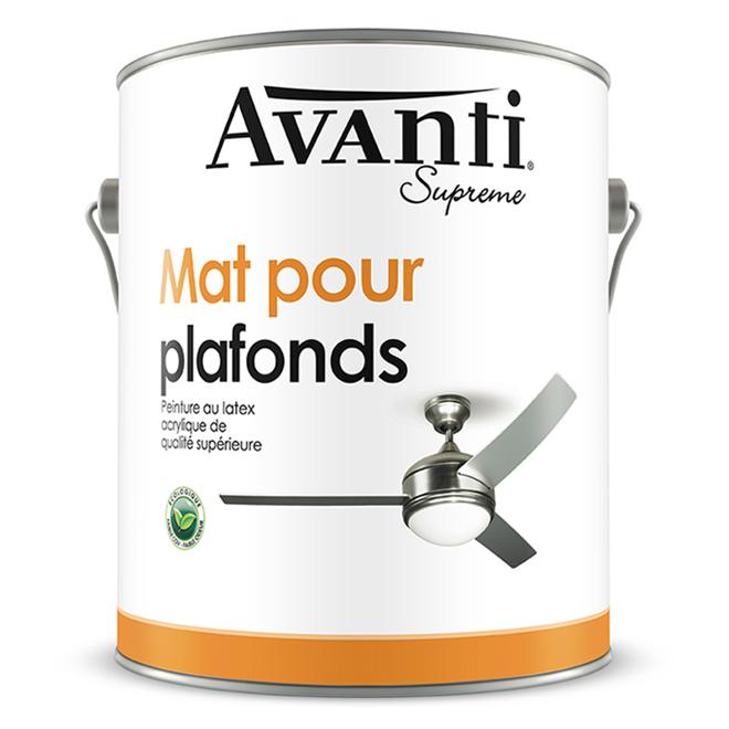 Peinture pour plafonds, Avanti, latex, 3,78 l, fini mat, blanc