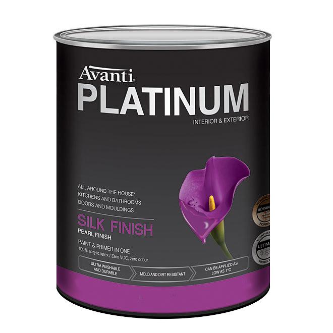 Peinture et apprêt au latex Avanti Platinum, intérieur et extérieur, 875 ml