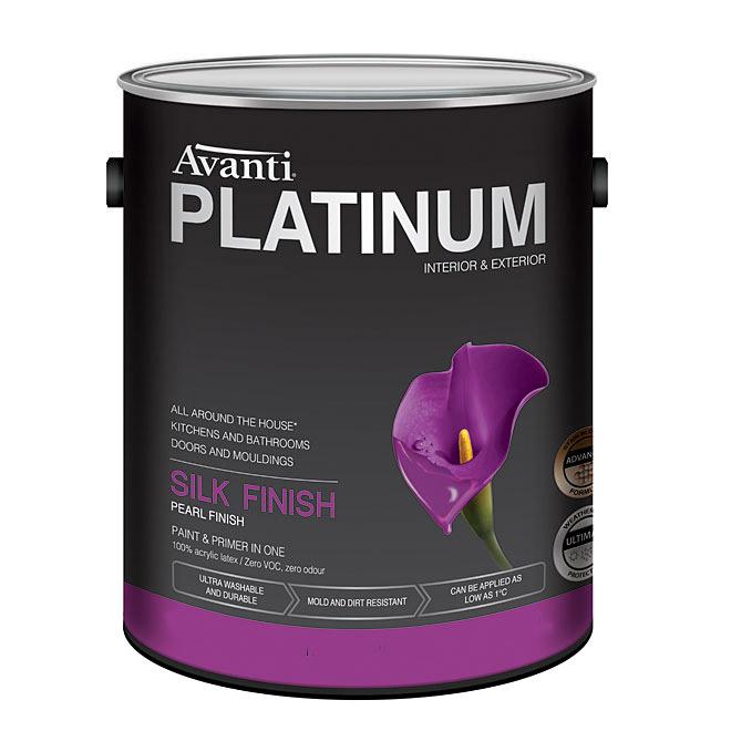 Peinture et apprêt au latex Avanti Platinum, intérieur et extérieur, 3,5 L
