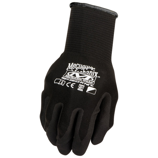 Gant multi-usages Mechanix Wear pour hommes, petit-moyen, noir