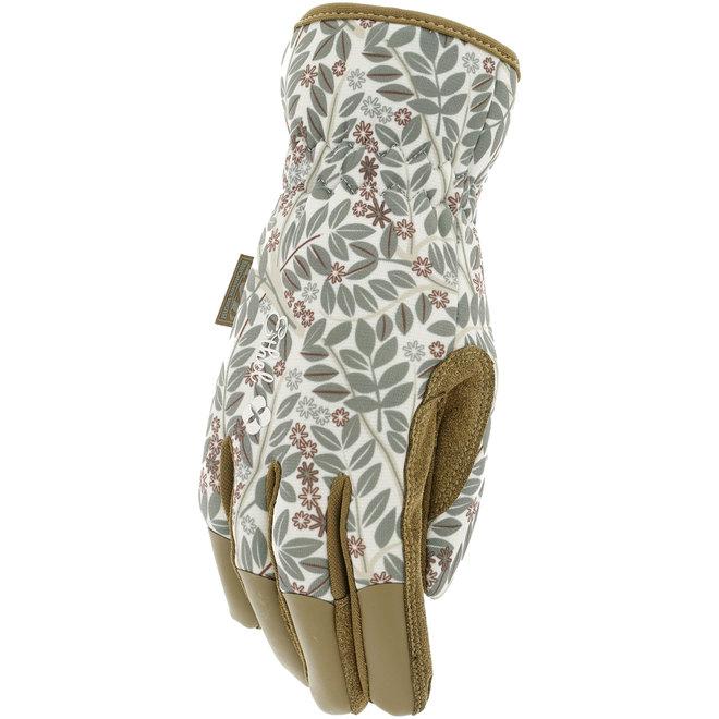 Gants de jardinage Ethel pour femmes, format moyen, cuir synthétique, evergreen