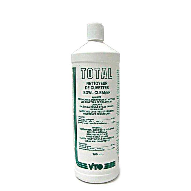 Nettoyant et désinfectant à cuvette, Total, 909 ml