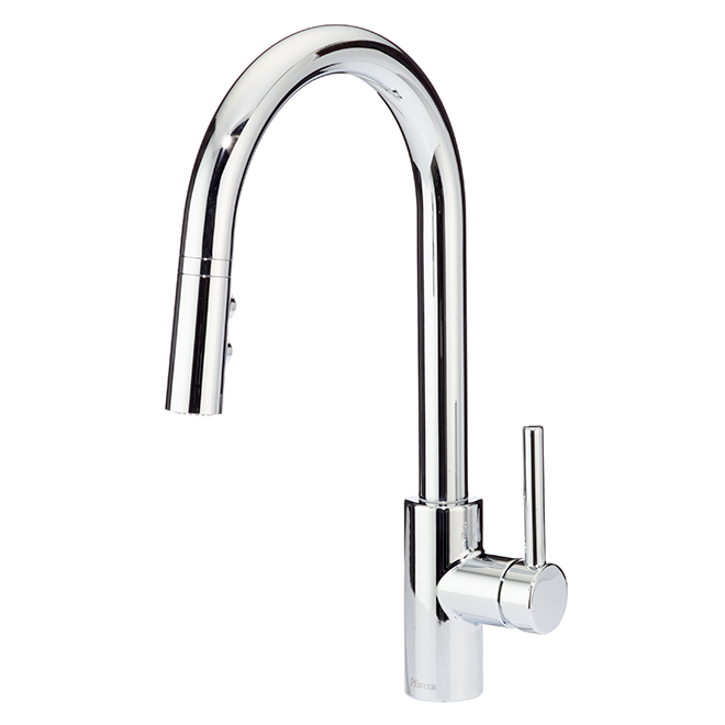 Fullerton Pull-Down Kitchen Faucet - Polished Chrome