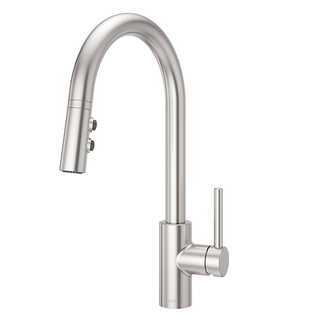 Pfister Pull-Down Kitchen Faucet - Fullerton Collection - 1-Handle - Stainless Steel