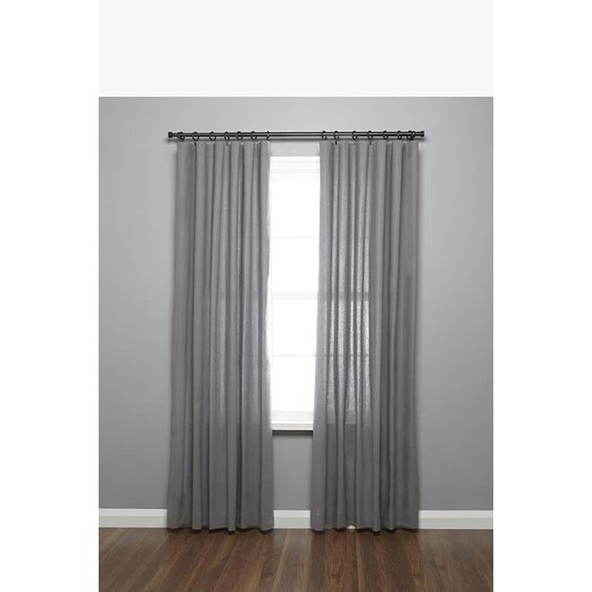 Umbra Quot Cappa Quot Curtain Rod 66 Quot To 120 Quot Brushed Black