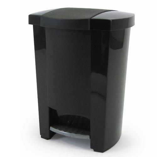 Poubelle à pédale Mistral, 19 litres, noir