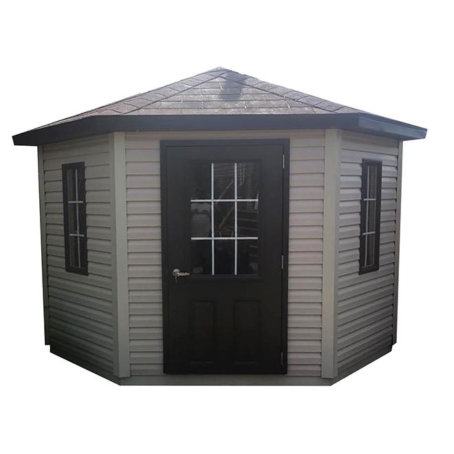 Cabanon Charlevoix de Riopel, 10 pi l. x 10 pi L., soffite ventilé, porte à verrou