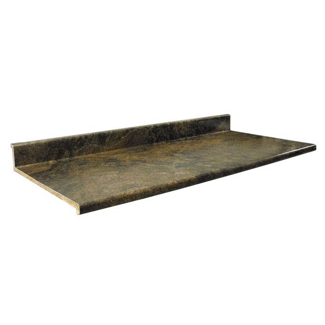 """Comptoir moulé 2300, Brown Granite, 22,5"""" x 5'"""