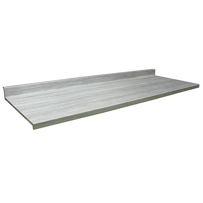 "Moulded Counter Ora, Travertine Silver, 25,25"" x 10'"