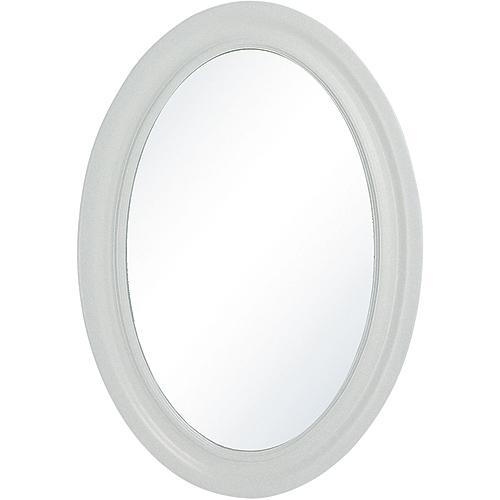 Miroir biseauté Dana, ovale, blanc