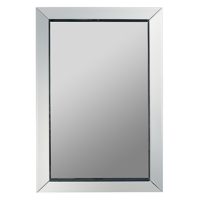 "Bevelled Mirror - 24"" X 36"" - White"
