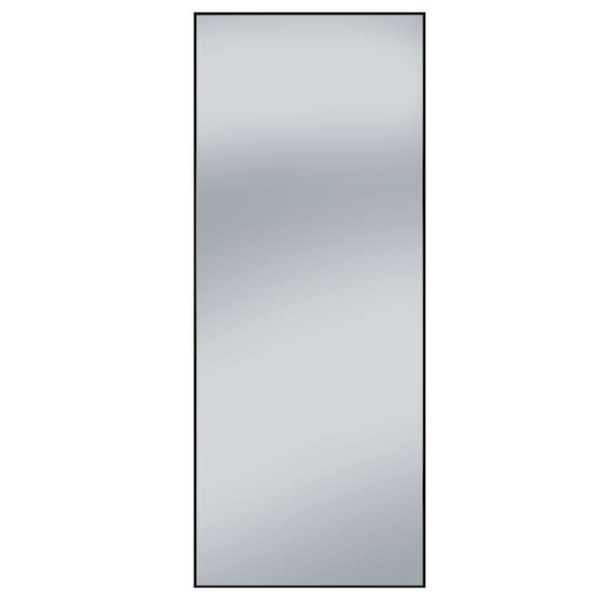 Miroir Columbia Frame, cadre en aluminium 27 po x 70 po noir