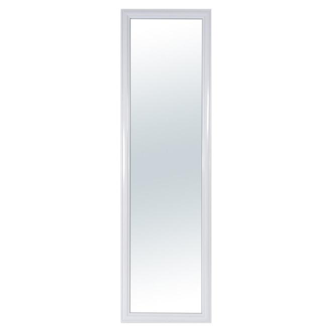 Miroir de porte rectangulaire Columbia blanc de 13,5 po x 49 po