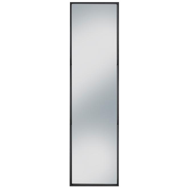 Miroir Columbia Slantwise Perfection mince noir brossé de 17 po x 60,3 po