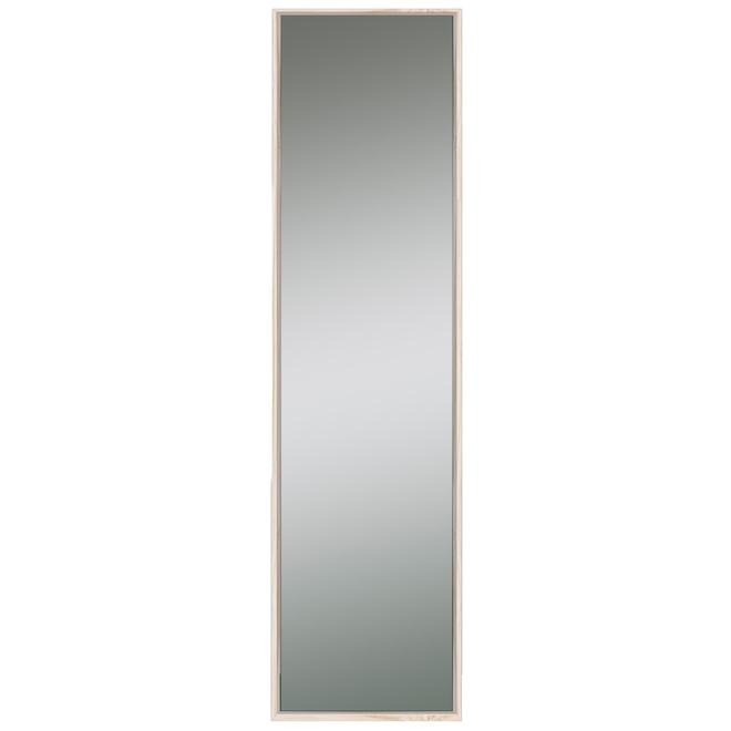 Miroir Columbia Slantwise Perfection mince finition naturelle de 17 po x 60,3 po