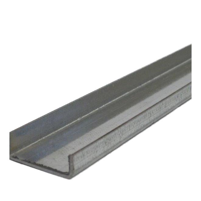 Profilé en U en acier galvanisé, 1 1/2 po x 12 pi