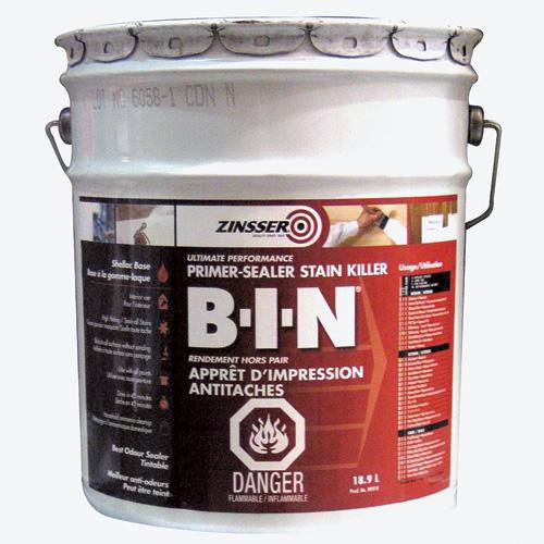 Zinsser B-I-N(R) Primer-Sealer Stain Killer - 18.9 L - White