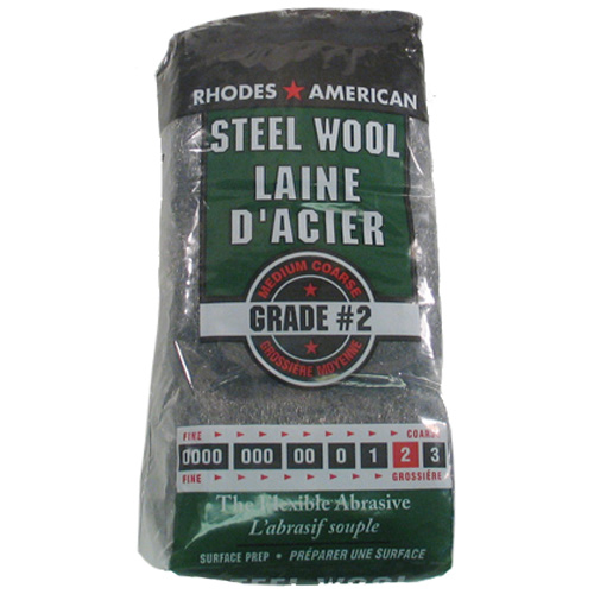 Medium-Coarse Steel Wool - #2 - 12-Pack