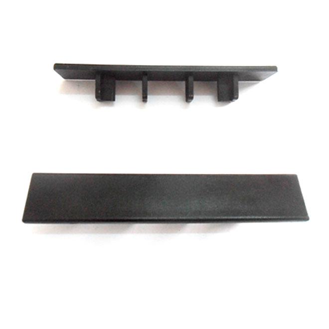 Capuchons d'extrémité pour terrasse, noir, paquet de 20