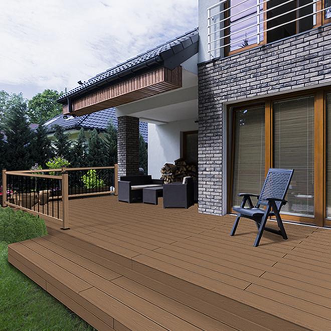 leadvision planche pour terrasse 12 39 composite teck. Black Bedroom Furniture Sets. Home Design Ideas