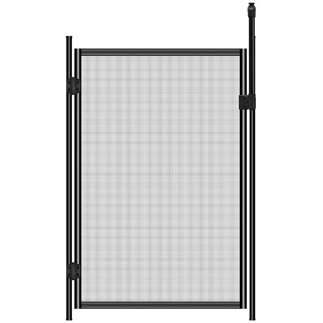 Swimming Pool Door - 48'' x 30'' - Polyester/Aluminum - Black