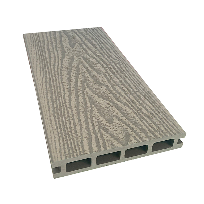 Planche pour terrasse, Elegance Prestige, 12', composite, rustique, gris pâle