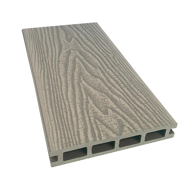 Planche pour terrasse, Elegance Prestige, 16', composite, rustique, gris pâle