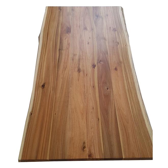 """Dessus de table Leadvision en acacia, bordure naturelle, 36"""" x 70"""", fini naturel"""