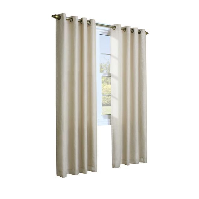 Panneau de rideau à oeillets Rhapsody en polyester, 52 po x 84 po, blanc
