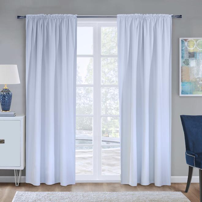 Doublure de rideau Ultimate, obscurité totale, 45 po x 77 po, polyester, blanc