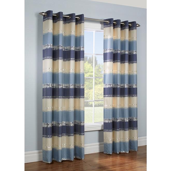 """Panneau de rideau filtrant à oeillets, 54"""" x 84"""", bleu"""