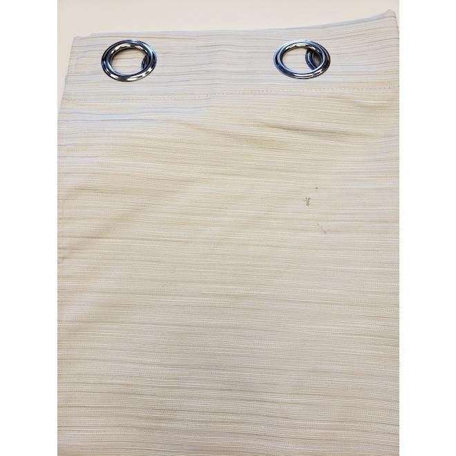 Rideau coupe-lumière Solstice à isolation thermique, polyester, 52 po x 84 po, huître