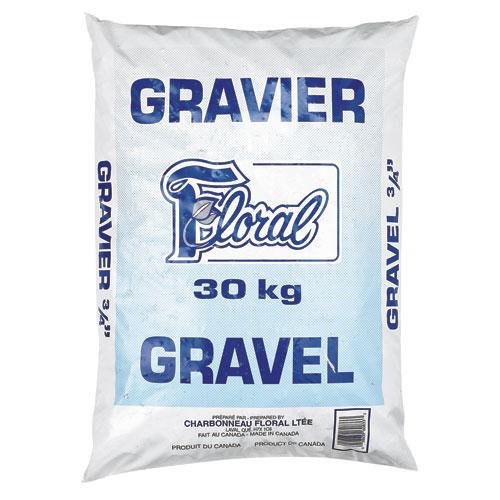 Gravier 3/4 po, 30 kg
