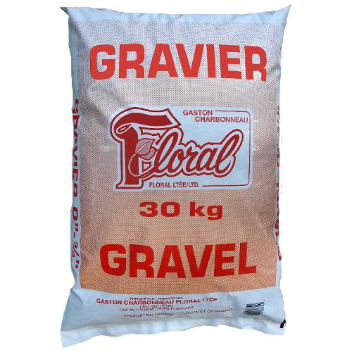 Gravier Floral de Charbonneau, diamètre de 0 à 3/4 po, pour fondations, 30 kg