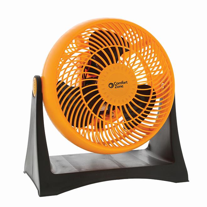 Ventilateur turbo Comfort Zone, 8'', 3 vitesses, orange