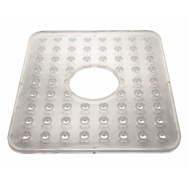 Tapis transparent avec trou pour évier