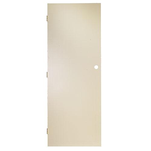 Porte intérieure Metrie, apprêt de finition, panneau dur blanc cassé, alésage pour poignée, 32 po l. x 80 po h.