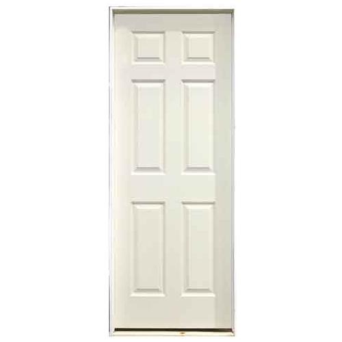 """6-Panel Pre-Hung Interior Door - 30"""" x 78"""" - Left"""