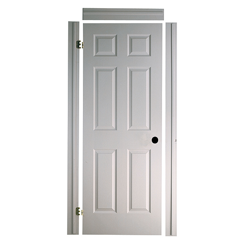 Porte texturée 6 panneaux «Fast-Fit» 28 x 80 po