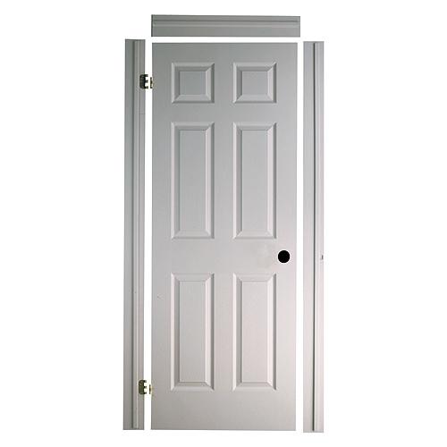 Porte texturée «Fast-Fit» 6 panneaux 32 x 80 po