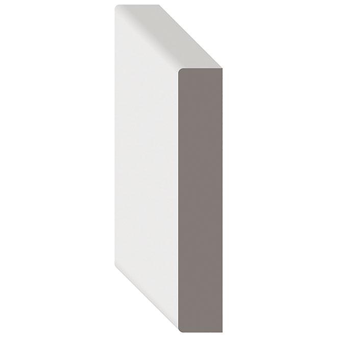 """S4S Primed MDF Moulding -  1"""" x 8"""" x 12' - White"""