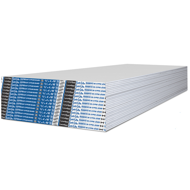"Easi-Lite Lightweight Drywall - 1/2"" x 4' x 10'"