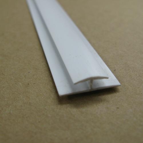 """""""Flat Joint"""" PVC Moulding - 1/8"""" x 8' - White"""