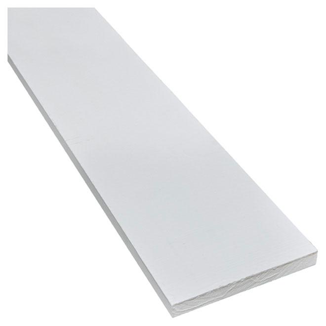 """Moulure de pin jointé B4F, 1"""" x 8"""" x 8', blanc"""