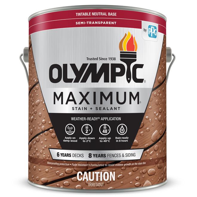 Olympic Maximum Stain Sealant Neutral Base 3 78 L 79560c 01 Reno Depot
