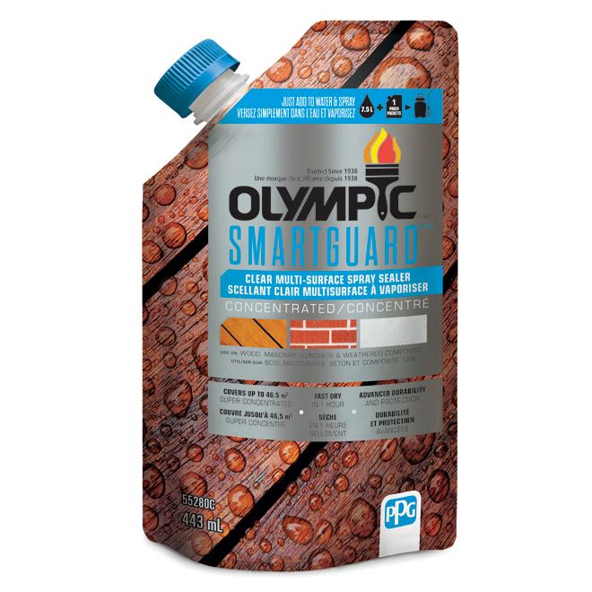 Scellant concentré à pulvériser Olympic Smartguard, multisurfaces, transparent, 443 ml