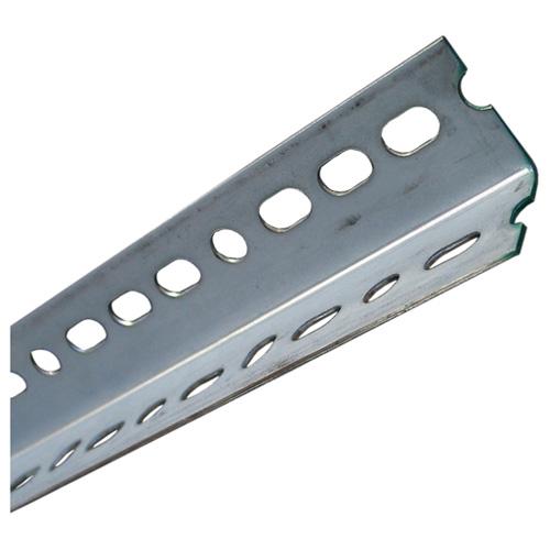 "Slotted Angle Bar - 11/2"" x 36"" x 0.074"" - Glavanized Steel"