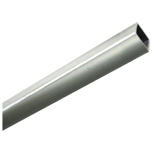 "Tube carré non fileté, 1"" x 72"", aluminium anodisé"