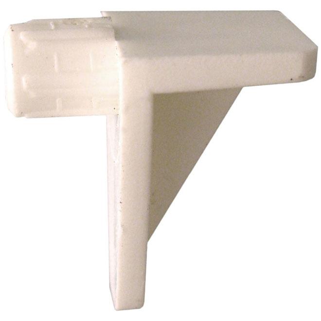 """Support de tablette en plastique, 1/4"""", blanc, boite de 25"""