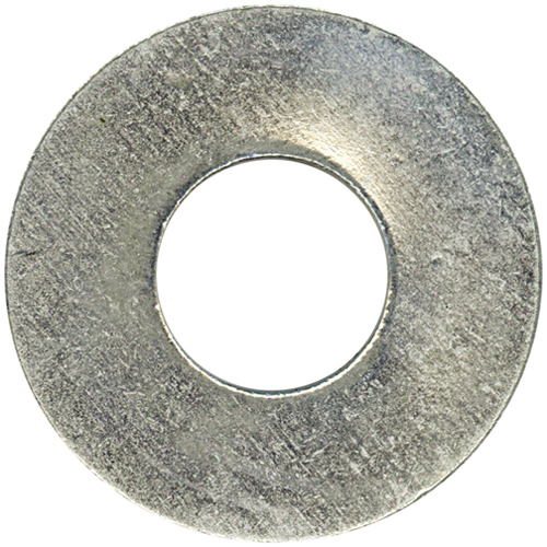 """Flat Washers - Steel - 7/16"""" - Box of 38 - Zinc Finish"""